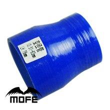 Mofe 51-63mm azul reto turbo intercooler tubo 3-ply silicone transição acoplador mangueira redutor