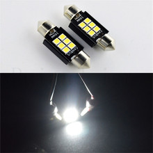 2-20pcs Non-polarity 12-24V Festoon 36mm dome 6SMD Samsung3030 LED CANBUS Car Interior light c5w White