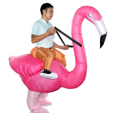 Flamingo Inflatable Costume Rider Cosplay Halloween Airblown Dress Suit Rose Pink For Adult And Child kids  sc 1 st  AliExpress.com & Buy flamingo adult costume and get free shipping on AliExpress.com