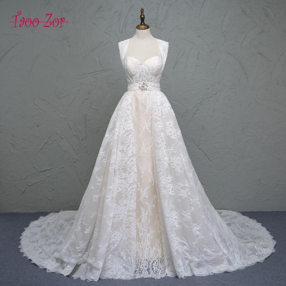 Taoo Zor Classic Lace Design Princess A Line Wedding