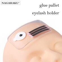 NAGARAKU Eyelash Extension Makeup Silicone  Stand Pallet Pad Lash Tray Holder Tool Clear Lash Holder Forehead Sticker Silica Gel