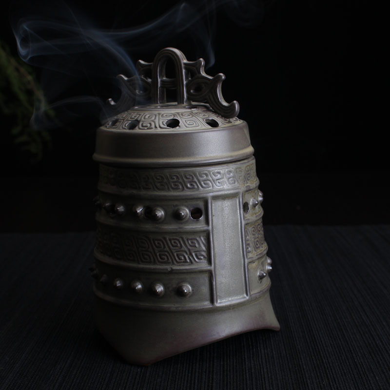 YXY Antique Bell Incense Burner Sandalwood Coil Censers Base Ceramic - Տնային դեկոր - Լուսանկար 5
