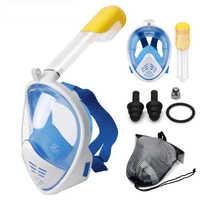 Máscara de buceo máscara de Snorkeling de cara completa Anti niebla subacuática máscara de buceo Snorkeling para natación buceo de pesca