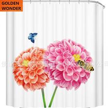 Fashion Bath Curtain Shower Bathroom Fabric Polyster High Quality Thick Waterproof China Product