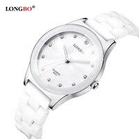 Luxury Water Resistant Easy Read Sports Women Ceramic Wrist Watch Free Shipping Top Quality Lady Dress