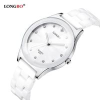 Luksusowy wodoodporny łatwy odczyt sport kobiety ceramiczny zegarek na rękę  darmowa wysyłka najwyższej jakości Lady Dress zegarki w Zegarki damskie od Zegarki na