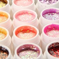 Best Sale 36 Pots Glitter Shimmer Spangles Nail Art UV Gel For Acrylic Nails