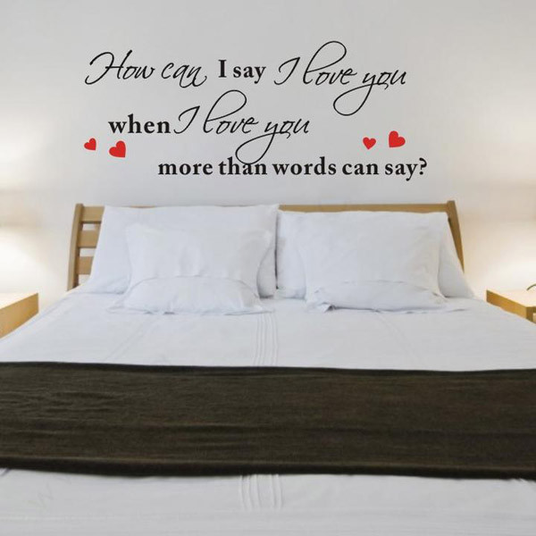 I Love You Romantic Love Wall Decal Quotes Home Decorations Living