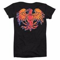 Mens Shirts Short Sleeve Trend Clothing Bob Marley T ShirtUnisex 8 Bit Bird T Shirt Black