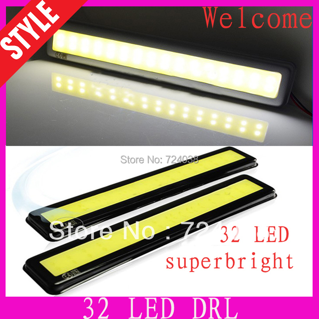 New 2PCS E4  White 32 LED Car Daytime Running Light DRL light source auto accessories car styling and parking