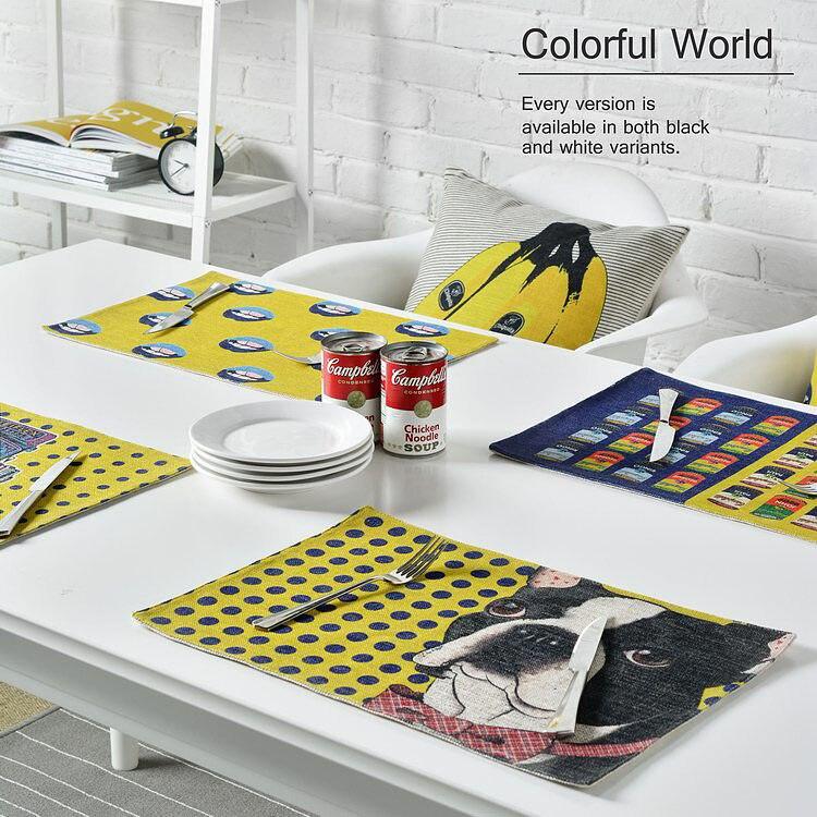 christmas placemats cotton linen placemat bar mat acessorios yellow carton 2844cm - Kitchen Table Mats
