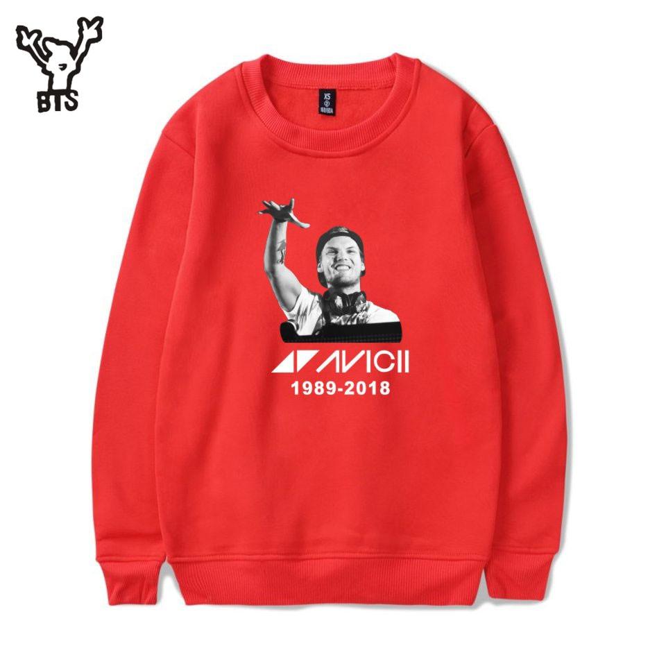 BTS 2018 Avicii Fashion Design Hot Sale Sweatshirt Women Casual sweatshirt men streetwear Funny Hoodies Sweatshirts Men PlusSize