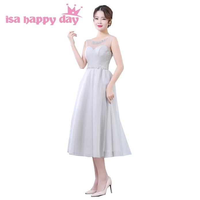 Pas cher doux 16 8th grade thé tulle corset gris élégant robes de soirée graduation danse robe robes de bal sous 100 H3616