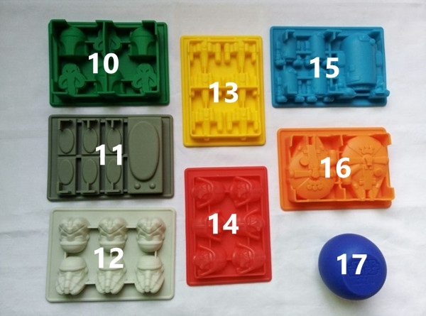 1PCS DIY Silicone Lego Brick Minifigure Ice Mold Ice Tray Chocolate ...