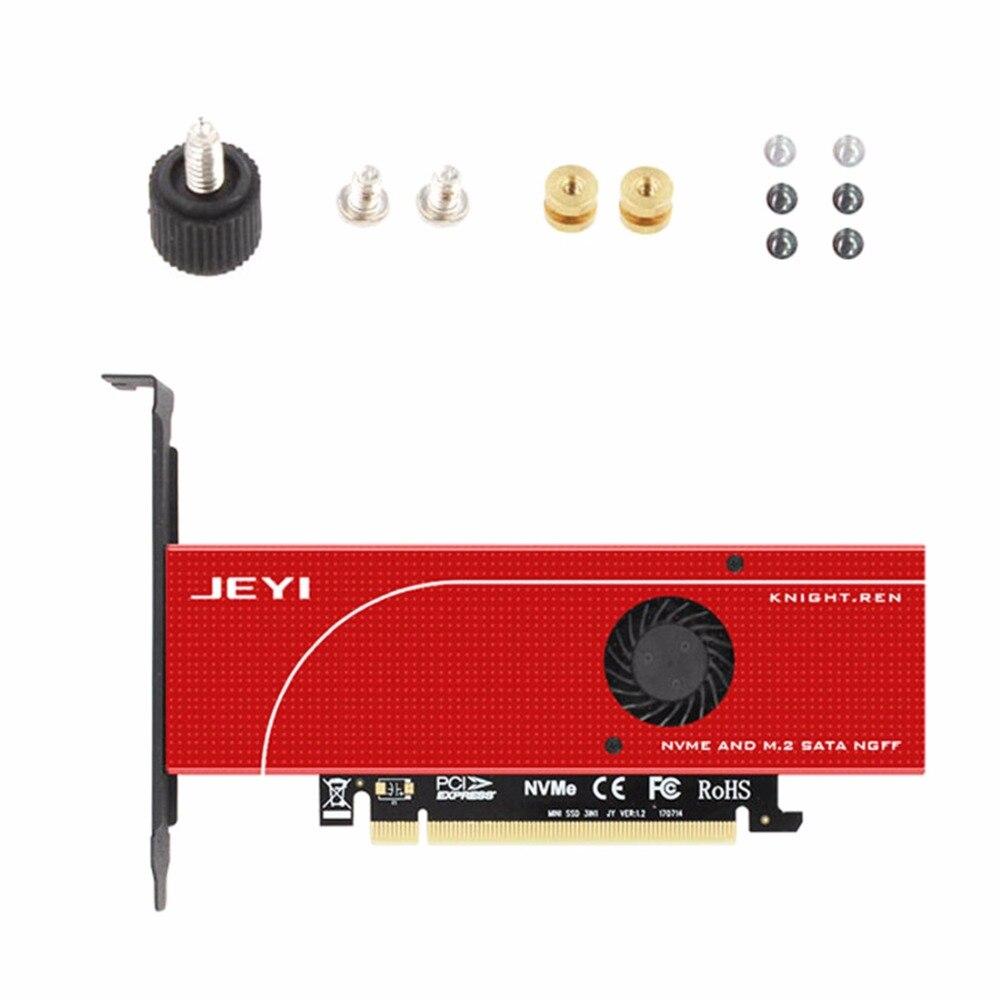 JEYI KNIGHT Protection contre les pannes PCIE3.0 NVME adaptateur x16 pleine vitesse M.2 dd sur carte dissipateur de chaleur gaufrette ventilateur de refroidissement SSDJEYI KNIGHT Protection contre les pannes PCIE3.0 NVME adaptateur x16 pleine vitesse M.2 dd sur carte dissipateur de chaleur gaufrette ventilateur de refroidissement SSD