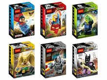 Decool 0199-0204 Super Girl/Brainiac/Hawkman/Cyborg Super Heroes Minifigure Building Block Minifigure Toys Compatible with Legoe