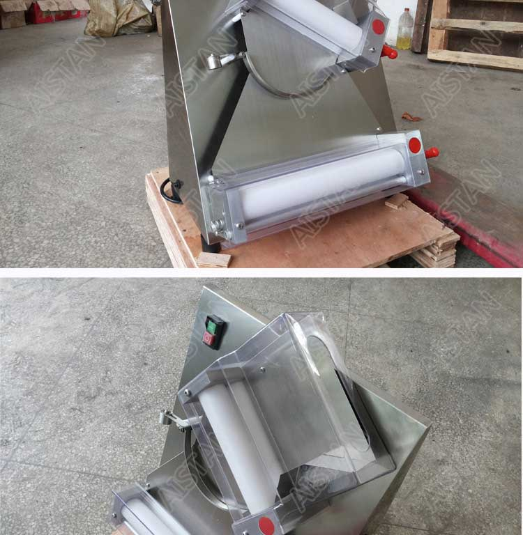 DR2A electric commercial stainless steel pizza dough roller/dough sheeter machine/dough press machine 15