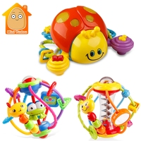 Colorful Handrattle Safty Ball Toys Baby Soft Hand Catcher Rattle Baby Puzzle Educational For Babies Grasping Ball Puzzle