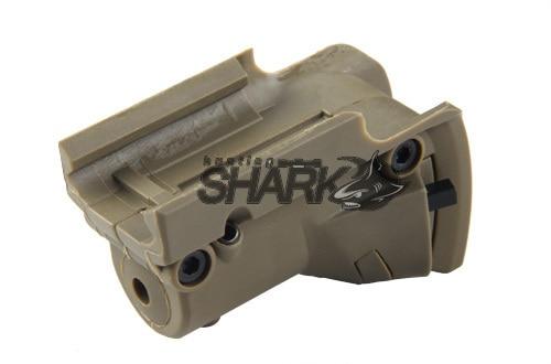 PPT красный лазер Aimer Тактический лазерный прицел для всех glocks лазерная указка для G и BARAK пистолетов с боковыми канавками HS20-0019 - Цвет: Коричневый