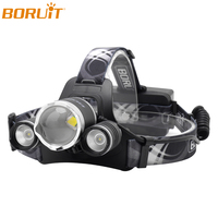 BORUiT B22 White L2 LED Headlamp Flashlight Zoomable USB Rechargeable Headlights Waterproof Camping Hunting Fishing Head Torch