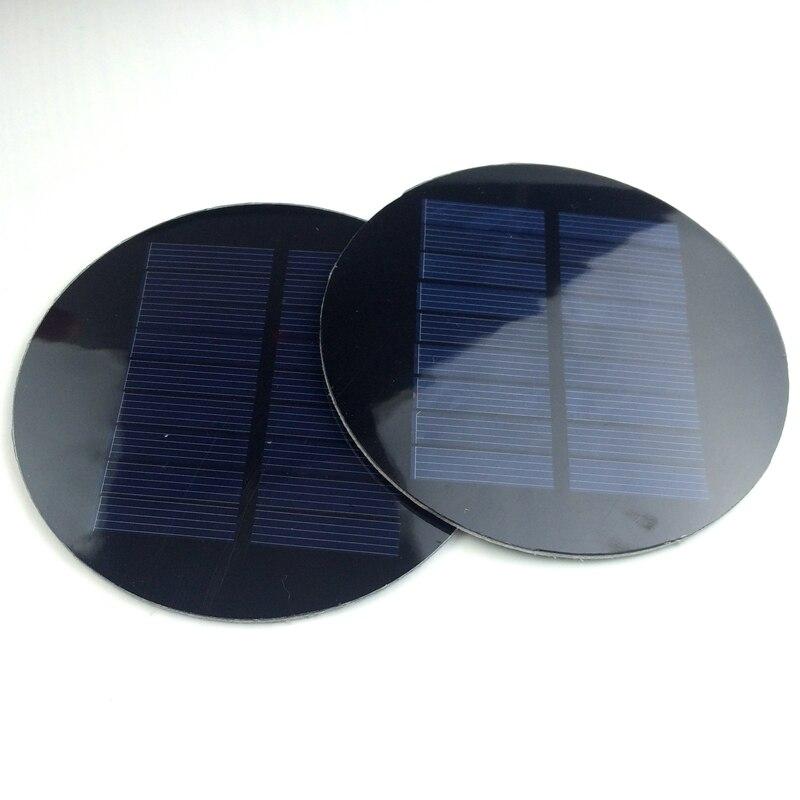 5pcs/lot Round 4.5V 100mA PET Solar Cell Diameter 88.5mm High Quality Solar Panel For DIY Toy Solar Light