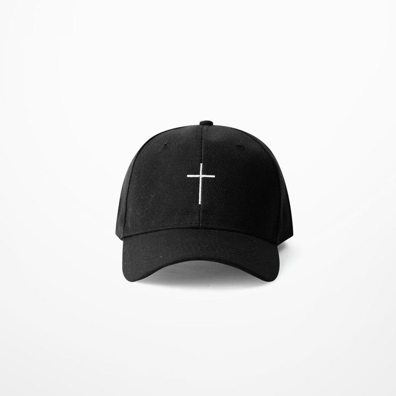 new Summer Simple Cross Embroidery   Baseball     Cap   Bent Visor hat Hip Hop Streetwear Black White Hats adjustable fashion Dad   Caps