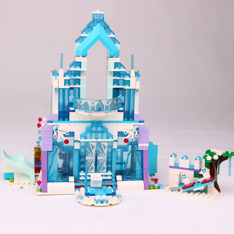 Model building kits compatible with city Elsa`s Magical Ice Castle 3D blocks Educational toys hobbies for children lepin 25002 new lepin 16008 cinderella princess castle city model building block kid educational toys for children gift compatible 71040