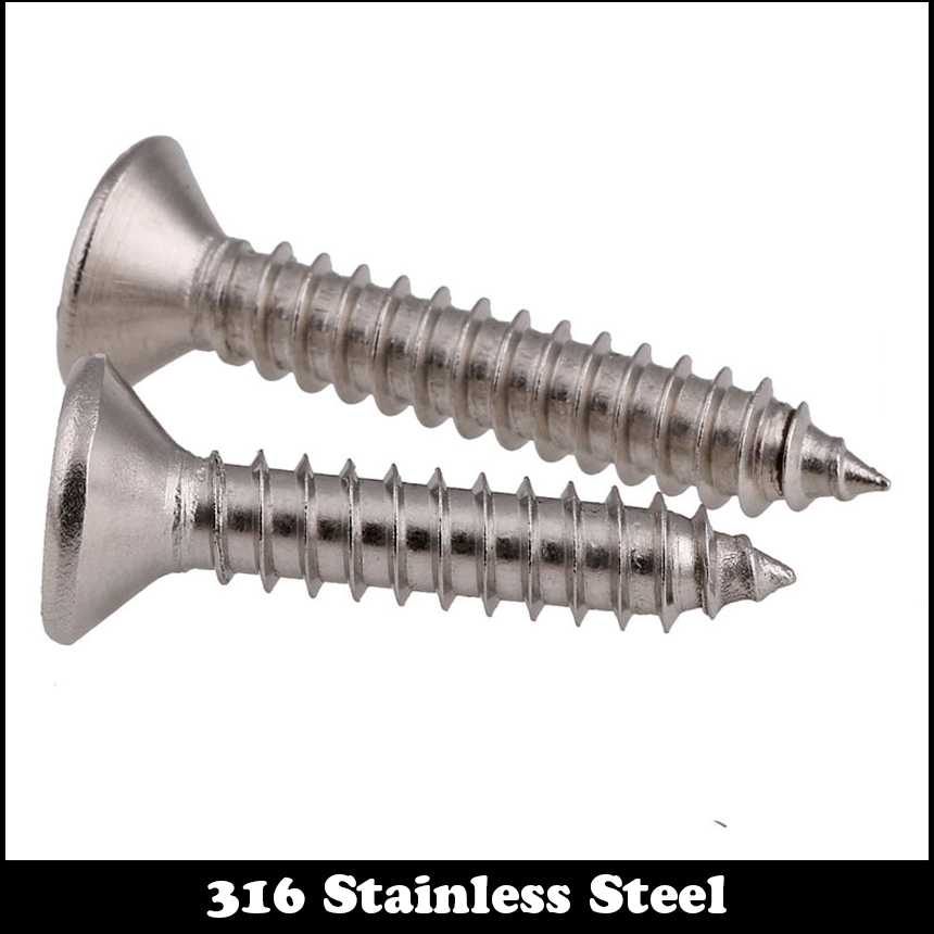 M4 M4 50 M4x50 M4 140 M4x140 304 316 Stainless Steel SS DIN7982 Cross Philips Recessed Countersunk CSK Flat Self Tapping Screw in Screws from Home Improvement