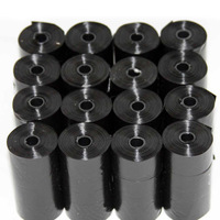 40 Roll Black Pet Poop Bags Dog Cat Waste Pick Up Clean Bag a Roll of 15 Bags E2shopping