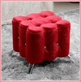 Square drilling flocking sofa stool dressing stool home furniture hot selling