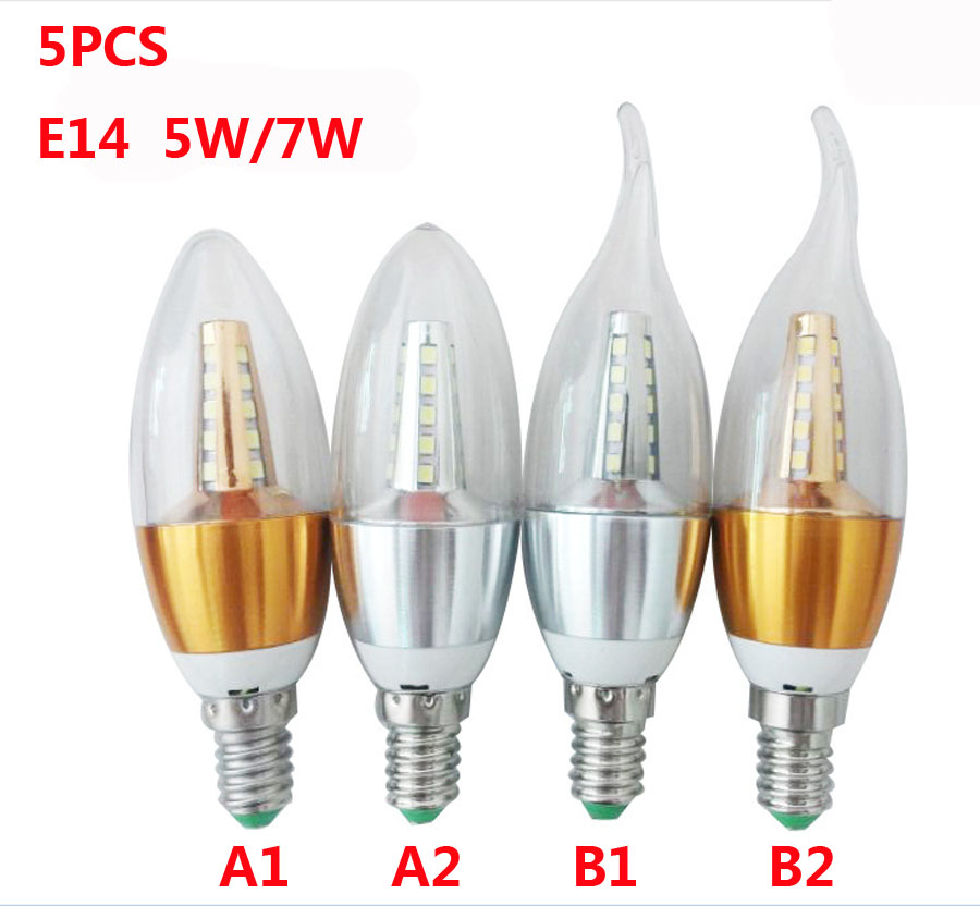 5PCS E14 Led Bulb Candle Energy Crystal lamp ,5W 7W SMD2835 Saving Lamp Light Bulb Home Lighting Decoration Led Lamp  AC220V 1pcs e27 t80 led energy saving lamp light bulb velas led decorativas home lighting decoration 40w ac85 265v led lamp