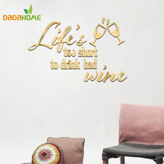 carpe diem life slogan mirror stickers wall stickers home decor