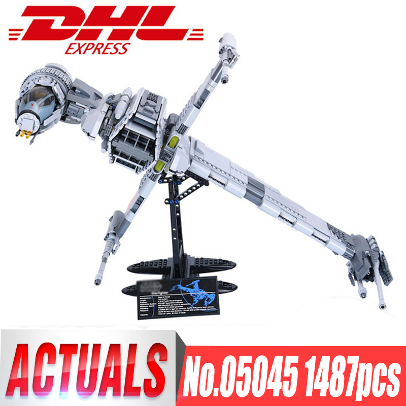 Lepin 05045 1487pcs STAR Genuine The B Starfighter wing Educational Building Blocks Bricks Toys legoingly 10227 Gifts model WARS lepin 05045 new 1487pcs genuine star war series the b wing starfighter building blocks bricks educational toys