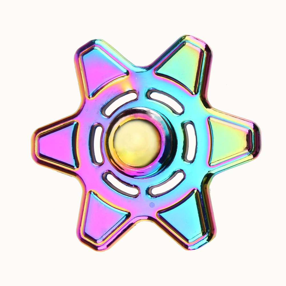 Colorful Alloy Hand Spinner EDC Fidget Spinner Hexagonal Toy for Autism and ADHD Relief Focus Anxiety