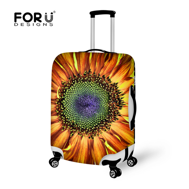 Colorful Sunflower Print Luggage Protective Dust Cover for 18/20/22/24/26/28/30inch Case Waterproof Travel Suitcase Zipper Cover