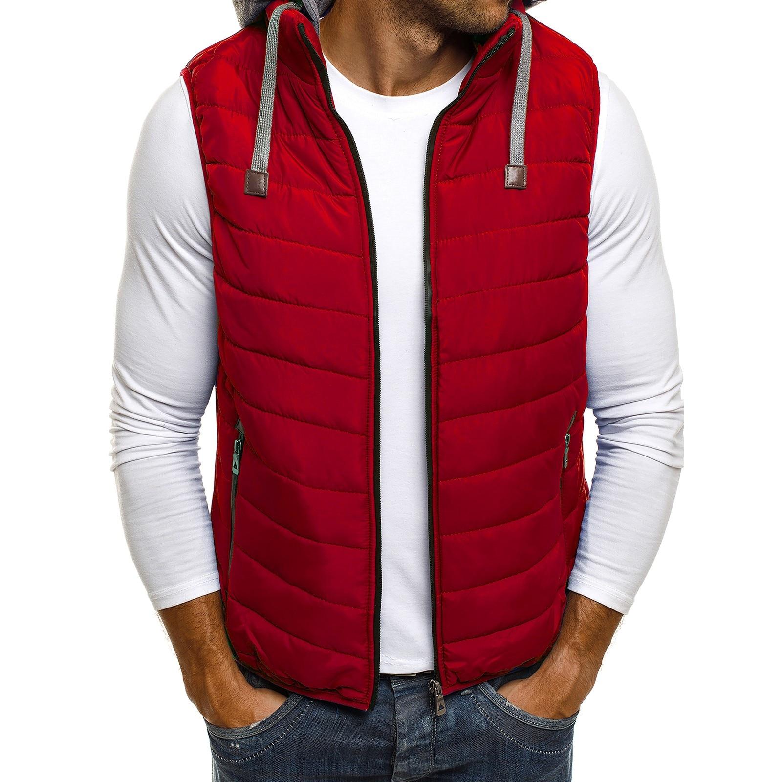 ZOGAA 2019 Duck Down Jacket Men Causal Solid Zipper Winter Sleeveless Coat Men Vest Puffer Jacket Men 5 Colors
