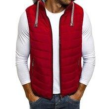 ZOGAA 2019 Duck Down Jacket Men Causal Solid Zipper Winter Sleeveless Coat Vest Puffer 5 Colors