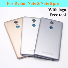 New Original Metal Back Shell Housing Door Battery Cover Case For Xiaomi Redmi Note 3/Note 3 pro Camera Glass Lens Button