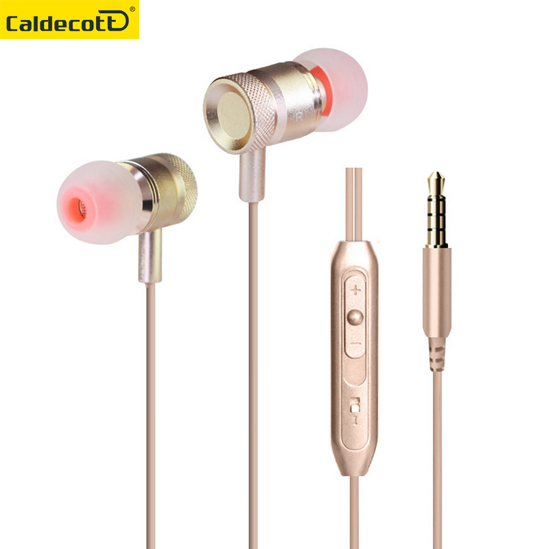 Metal Earphone Universal In-ear Wired Earphones With Microphone Stereo Earbuds For MP3 MP4 Computer Mobile Phones