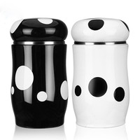 260ml Small Spots Mini Thermos Vacuum Flasks Stainless Steel Insulation Cup Water Bottle Tumbler Thermos Termo