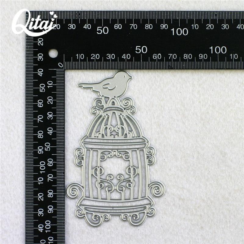 QITAI Πουλί Birdcage Shape Metal κοπής μοντέλο - Τέχνες, βιοτεχνίες και ράψιμο - Φωτογραφία 5