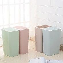 Cubo de basura de cocina cubo de reciclaje cubo de basura cubo de reciclaje de basura sala de estar prensa de basura cubierta cubo de basura