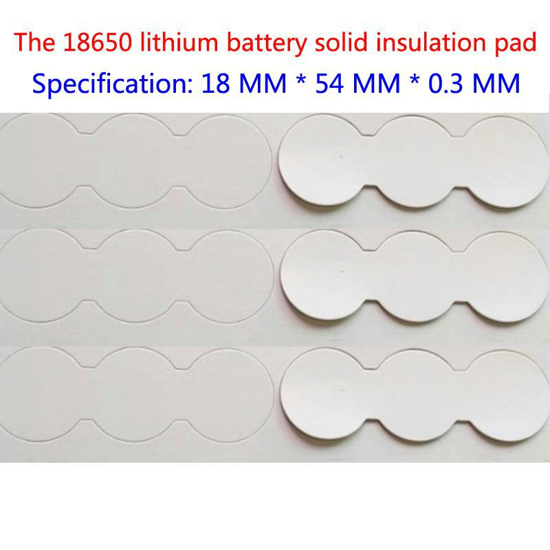 50 pcs/lot les 3 et 18650 série lithium batterie isolation joint plat solide surface pad 2 et 18650 batterie surface pad