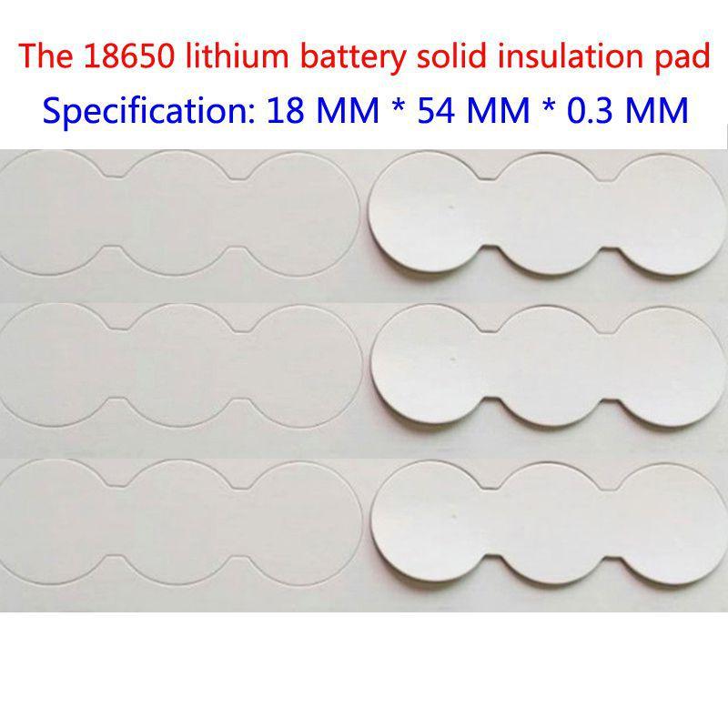 50 pçs/lote Da série 3 e 18650 bateria de lítio junta de isolamento superfície plana e sólida superfície pad 2 e 18650 bateria pad