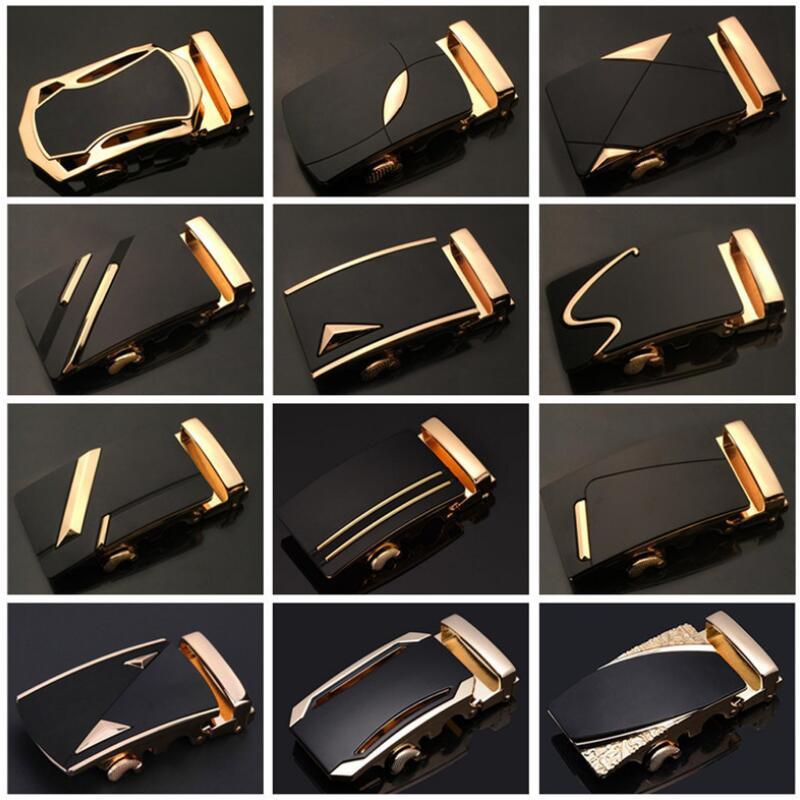 ZPXHYH mode hommes d'affaires alliage automatique boucle Unique hommes Plaque boucles de ceinture pour 3.5cm cliquet hommes vêtements accessoires