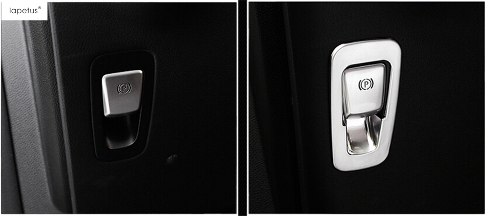 Accessories For Mercedes Benz E CLASS W213 2016 - 2018 Electrical Hand Park Brake Hold Switch Decoration Molding Cover Kit Trim