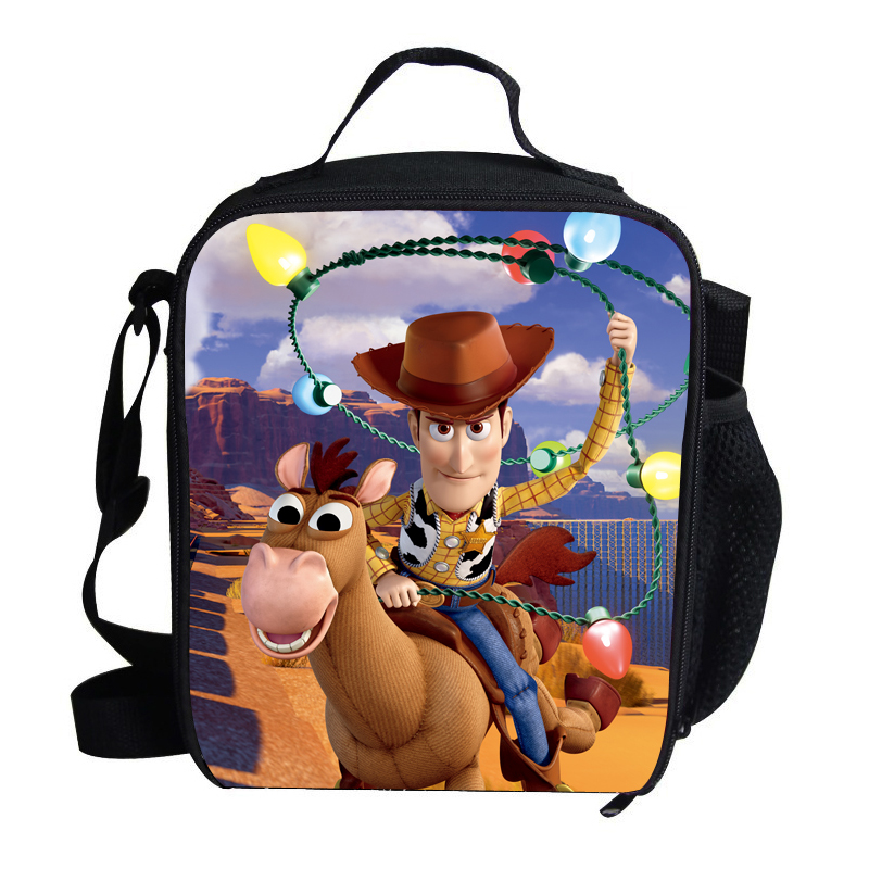 3648cdbe34b 2015 Hot Cartoon Lunch Bag Kids School Character Toy Story Cowboy Lunch Box  Bag For Boys Kids Personalized Insulated Lunch Bag-in Lunch Bags from  Luggage ...