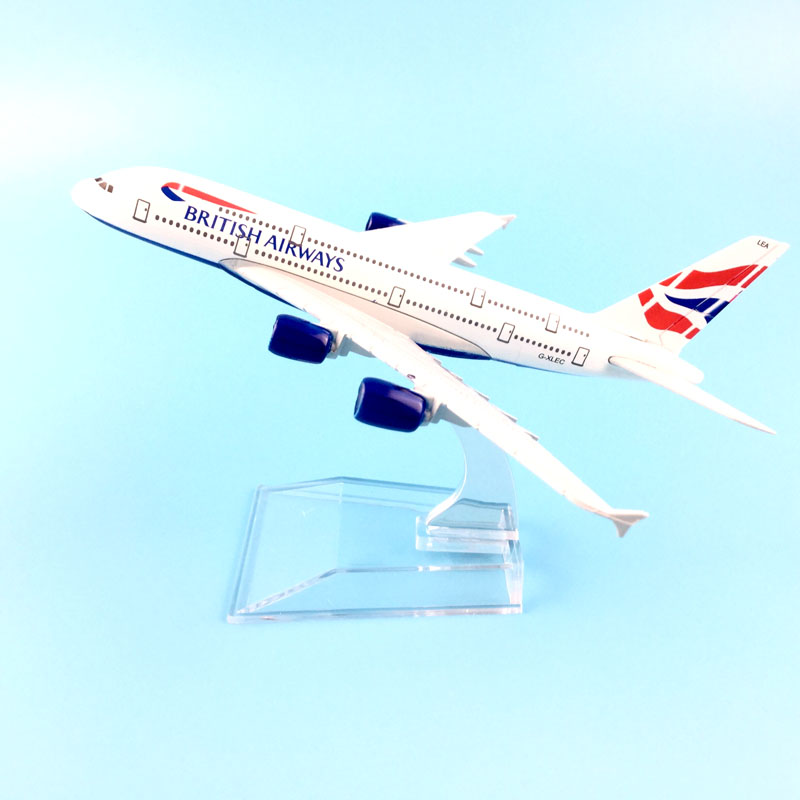 FREE SHIPPING 16CM A380 BRITISH AIRWAYS   METAL ALLOY MODEL PLANE AIRCRAFT MODEL  TOY AIRPLANE BIRTHDAY GIFT