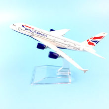 FREE SHIPPING 16CM A380 BRITISH AIRWAYS METAL ALLOY MODEL PLANE AIRCRAFT MODEL TOY AIRPLANE BIRTHDAY GIFT(China)