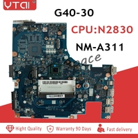 ACLU9 / ACLU0 NM A311 Motherboard for Lenovo G40 G40 30 laptop Motherboard ( for intel N2830 CPU ) tested 100% WORK